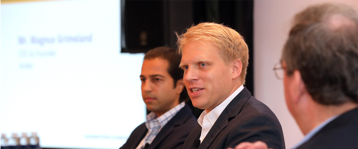 Magnus Grimeland and Ozi Amanat at our Senior Leaders Business Programme in May 2018