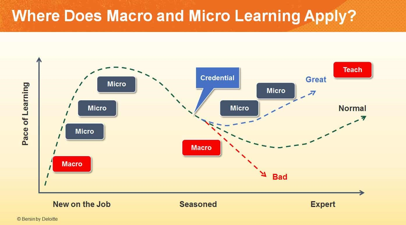 Bersin by Deloitte asks Where Does Macro and Micro Learning Apply?