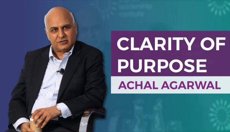 Embedded thumbnail for Achal Agarwal On Clarity of Purpose in the Covid-19 Crisis